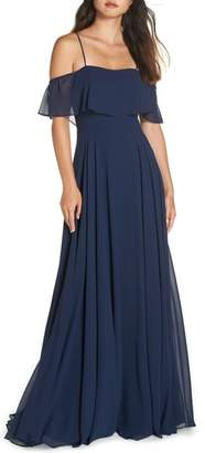 Paige Hayley Occasions Chiffon Cold Shoulder Gown