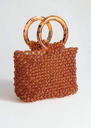 And other stories Circle Handle Beaded Bag