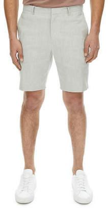 Theory Zaine Urban Stretch-Linen Shorts