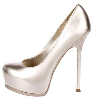 Saint Laurent Tribute Two Metallic Pumps