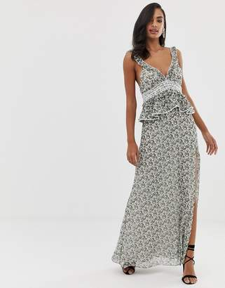 The Jetset Diaries dazed and confused ruffle maxi dress
