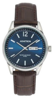 Armitron Men's Brown Leather Watch