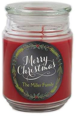 Happy Holidays Scented Glass Candle Jar