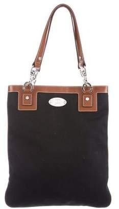 Celine Leather-Trim Canvas Bag