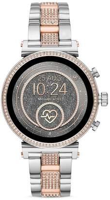 e73ff4907d08 Michael Kors Sofie 2.0 Pavé Two-Tone Link Bracelet Touchscreen Smartwatch