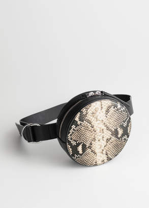 And other stories Snake Print Circle Beltbag