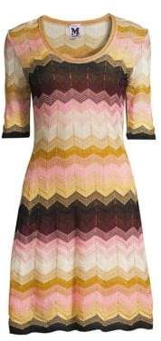 M Missoni Women's Lurex Stripe Dress - Pink - Size 36 (0)