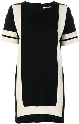 Parker Chinti & panelled mini dress