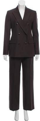 Max Mara Virgin Wool Double-Breasted Pantsuit