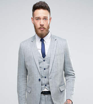 ONLY & SONS Skinny Suit Jacket In Herringbone