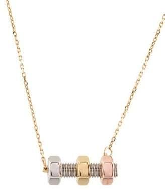 Calvin Klein Collection Nut & Bolt Pendant Necklace