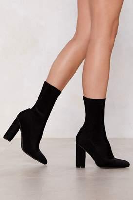 Nasty Gal Sit Tight Sock Boot