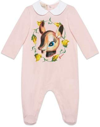 Gucci Baby sleepsuit with fawn print