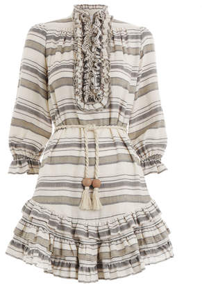 Zimmermann Juno Stripe Frill Short Dress