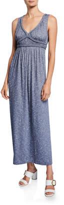 Max Studio Braided-Trim Sleeveless Maxi Dress