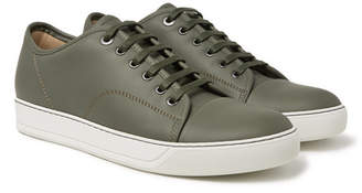 Lanvin Cap-Toe Matte-Leather Sneakers