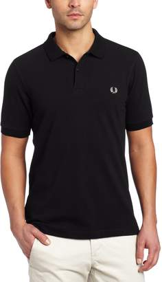 Fred Perry Men's Slim Fit Plain Shirt, Black