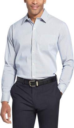 Van Heusen Traveller Long Sleeve Slim Stretch Long Sleeve Dots Button-Front Shirt-Slim