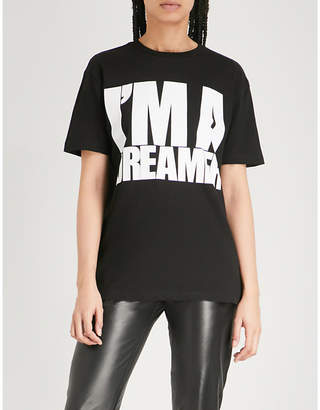 Gareth Pugh I'm a Dreamer print cotton-jersey T-shirt