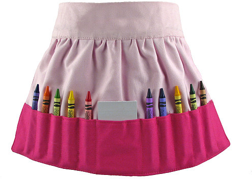 Doodlebugz Crayola Crayon Apron Solid Pink