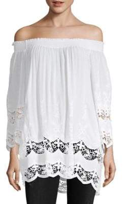 Le Marais Lace Off Shoulder Blouse