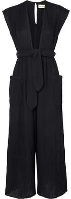 Mara Hoffman Whitney Organic Cotton-crepon Jumpsuit - Black