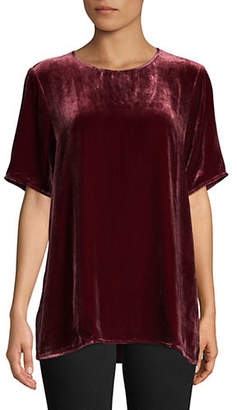 Eileen Fisher Short-Sleeve Velvet Top