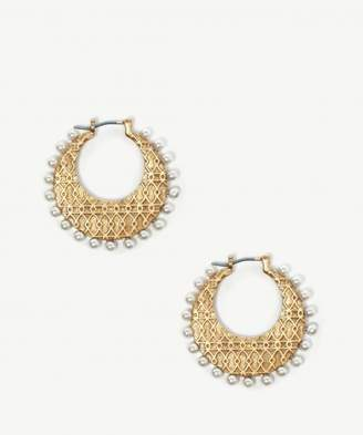 Sole Society Pearl Hoops