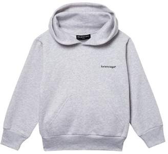 427f35e5fe Balenciaga Kids - Unisex Cotton Blend Hooded Sweatshirt - Womens - Grey
