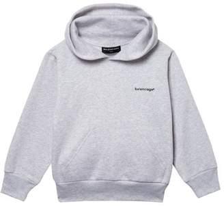 Balenciaga Kids - Unisex Cotton Blend Hooded Sweatshirt - Grey