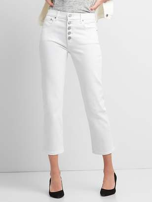 Gap High Rise Straight Crop Jeans with Button-Fly