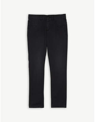 Fendi Logo patch slim denim jeans 4-14 years