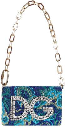 Dolce & Gabbana Girls Embellished Jacquard Shoulder Bag