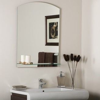 Décor Wonderland The Arch Frameless Mirror with Shelf