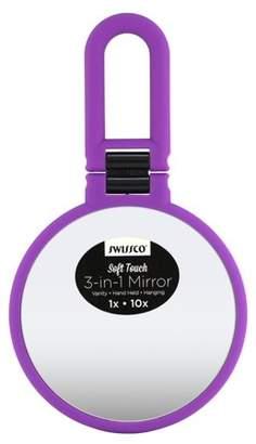 Swissco Soft Touch 3-in-1 Mirror, Purple