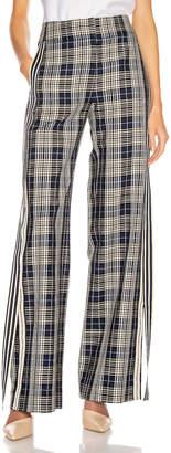 Monse Racing Stripe Vintage Pant in Navy Plaid | FWRD
