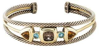 David Yurman Smoky Quartz, Citrine & Topaz Renaissance Cable Cuff