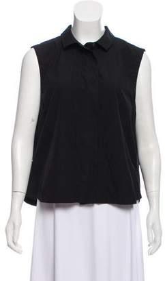 Frame Sleeveless Button-Up Top