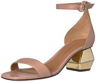 Emporio Armani Women's Nappa Leather Ankle Strap Sandal Pump