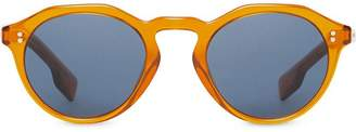 Burberry Eyewear Keyhole Round Frame Sunglasses