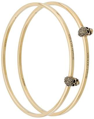 Alexander McQueen two-piece skull bracelet set