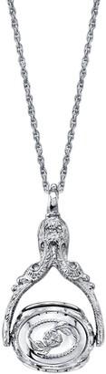 1928 Ornate Locket Pendant Necklace