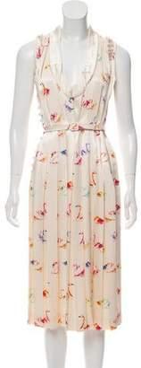 Marc Jacobs Silk Sleeveless Midi Dress
