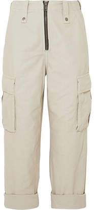 Ksubi Crypt Cropped Cotton-twill Cargo Pants