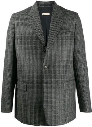 checked blazer jacket