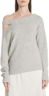 Vince One Shoulder Slit Pullover Sweater