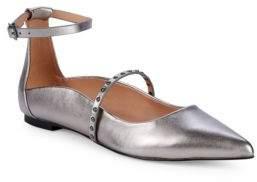 Halston Arwen Studded Metallic Flats