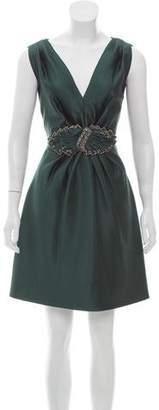 Alberta Ferretti Embellished Silk-Blend Dress w/ Tags
