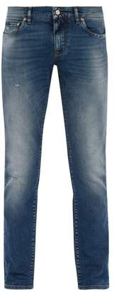 Dolce & Gabbana Light Wash Skinny Jeans - Mens - Blue