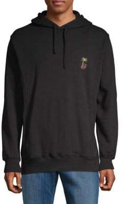 Barney Cools Embroidered Cotton Hoodie